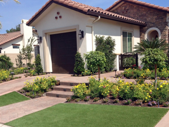pair your real garden with artificial grass